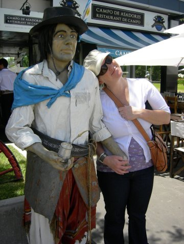 One of many Argentinian boyfriends I found, all of whom seemed awfully stiff