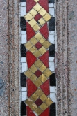 Inlay on the churh of stripes