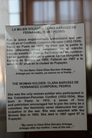 An homage to the first woman to serve in the Colombian army