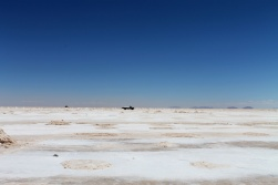 Gathering the salt in the Salar de Uyuni