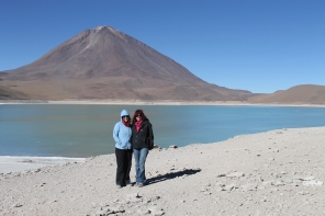 Seanna and I in front of arsenic lake