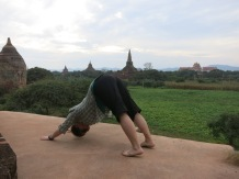 Testing temple platforms for a photo shoot of the yoga teacher I was traveling with.