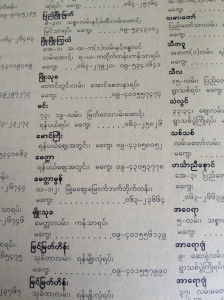 Bagan phone book