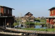 Houses on Inle Lake