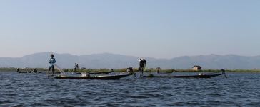 Fishermen, Inle Lake (please note the guy on the left looks like an 80s rock star...only fishing)