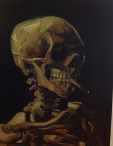 Head of a Skeleton with Burning Cigarette
