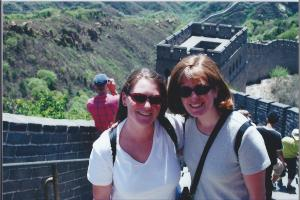 Same friend and I, on the Great Wall of China, circa 2001