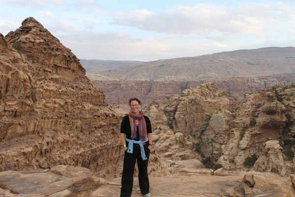 On top of the monastery in Petra